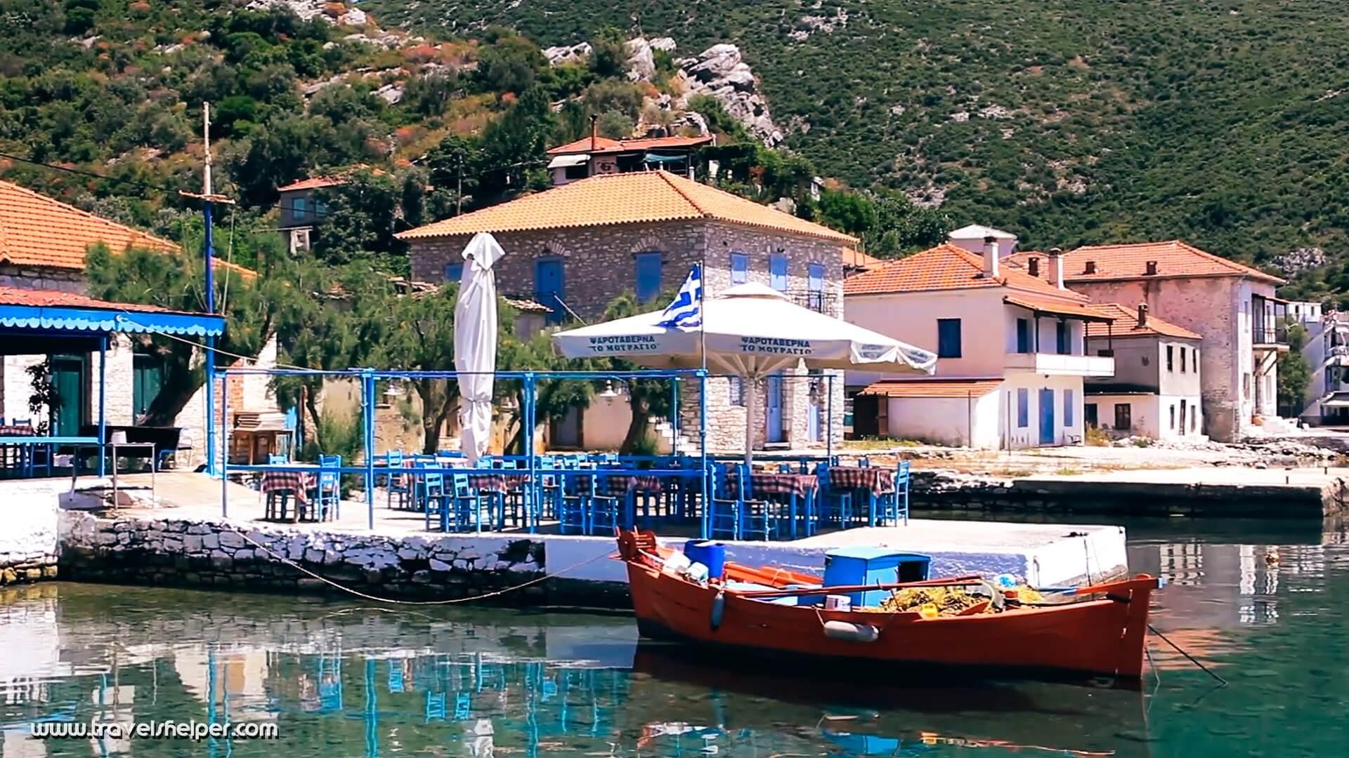 Agia Kyriaki village in Pelion, Greece