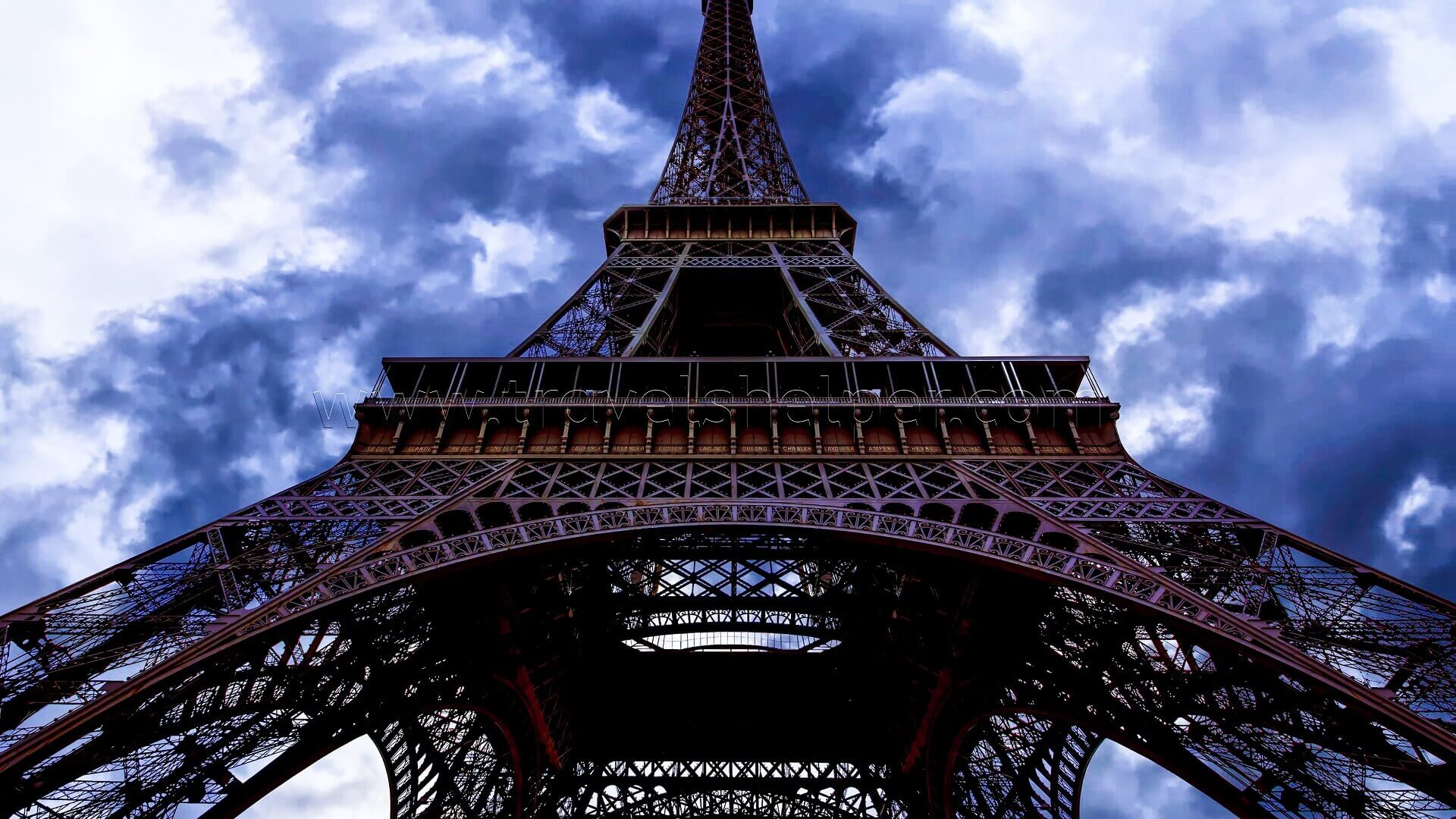 Beautiful view of famous Eiffel Tower in Paris