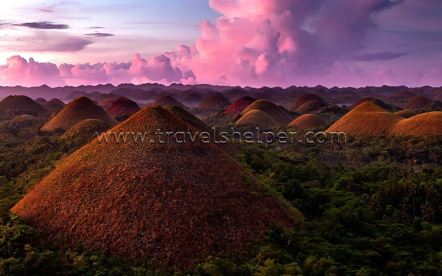 Geological National Monument of the Philippines - Chocolate hill on Bohol Island - WONDERS OF NATURE IN ASIA, WHICH SEEM TO BE NOT FROM THIS WORLD
