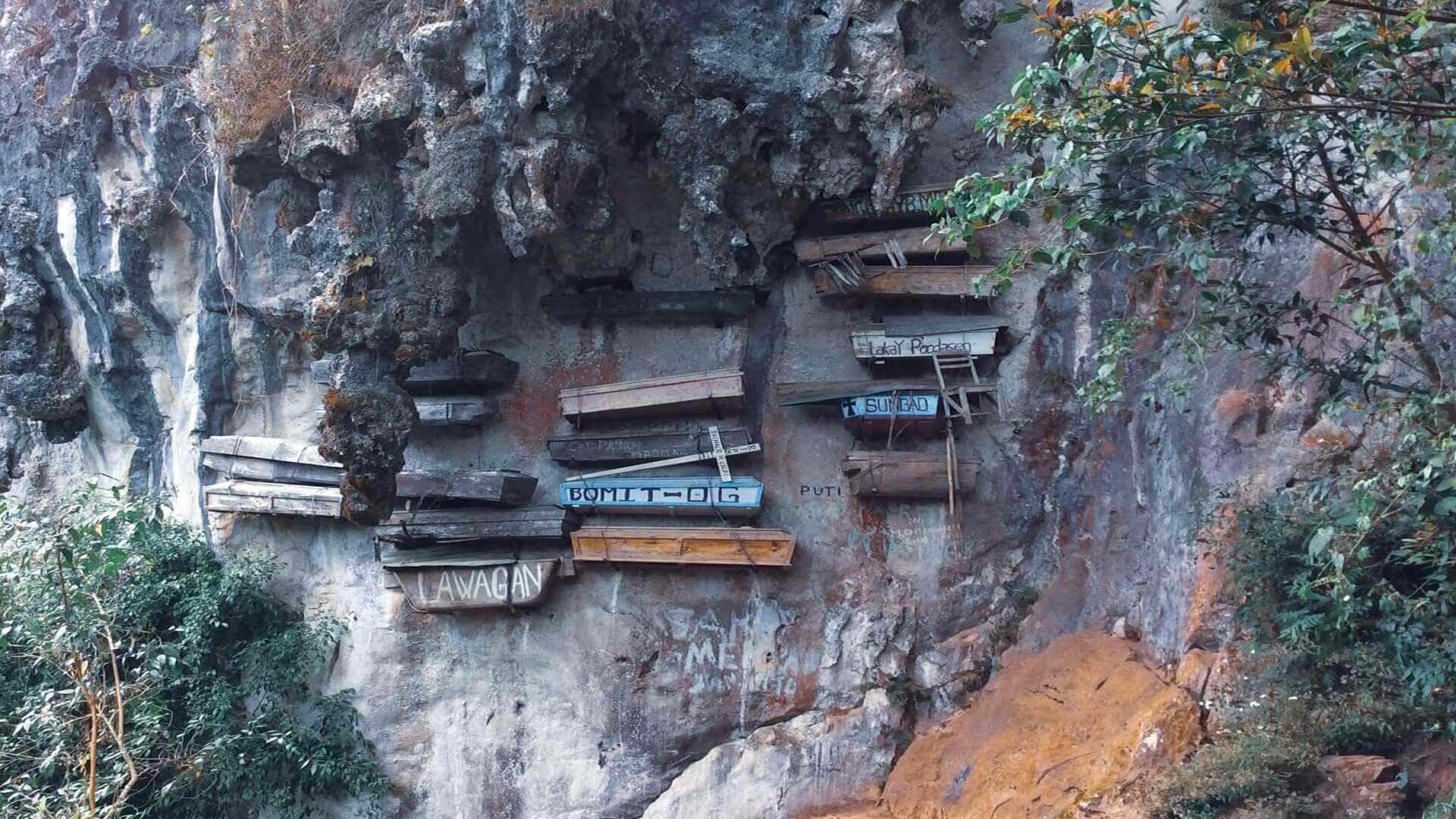 Hanging boxes Sagade, Philippines
