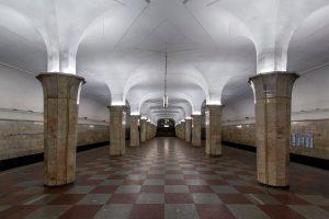 Kropotkinskaja metro station in Moscow