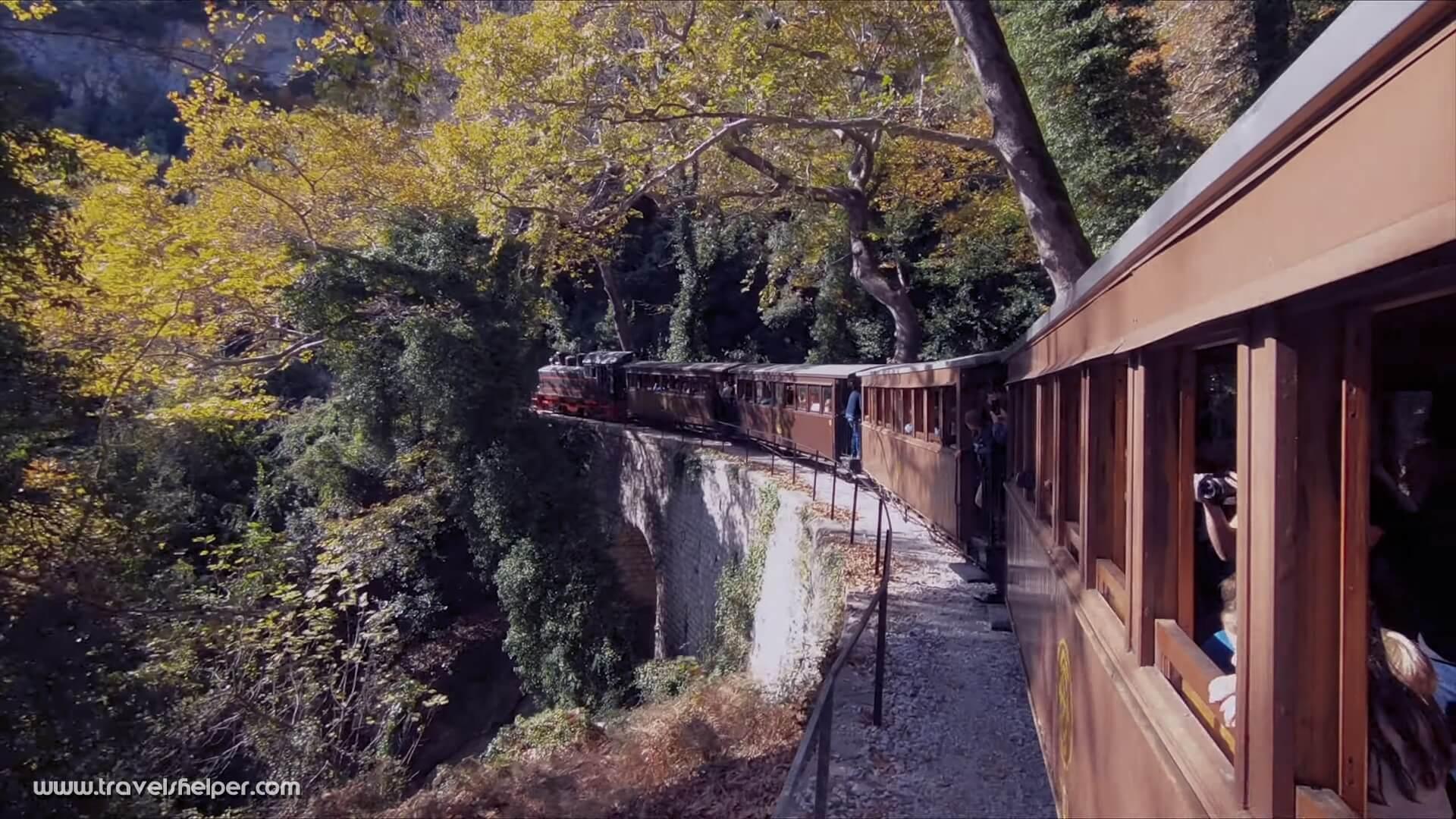 Legendary steam train Mucuris in pelion, Greece