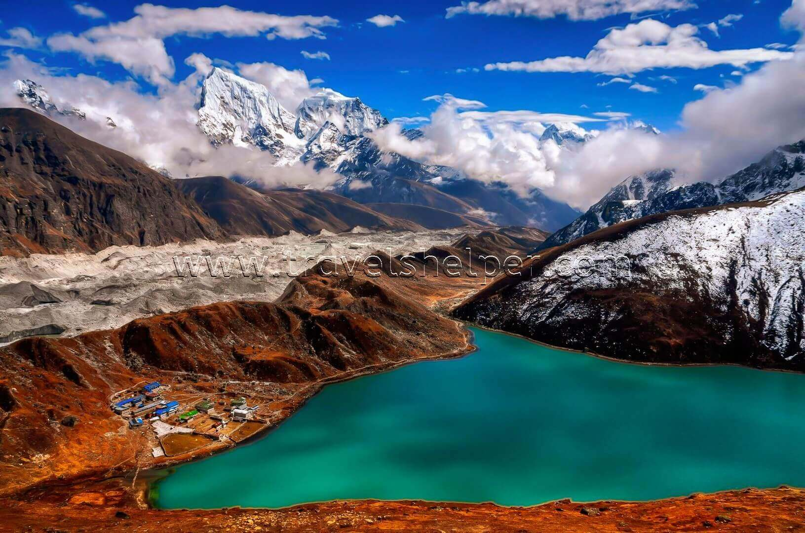 Mount Gokyo Ri in Nepal - WONDERS OF NATURE IN ASIA, WHICH SEEM TO BE NOT FROM THIS WORLD