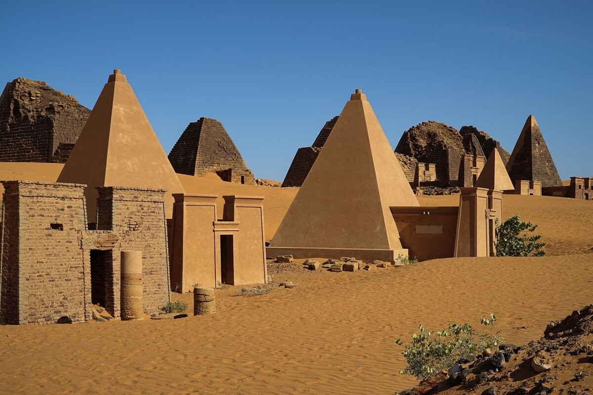 The ancient city of Meroe, which hardly anyone ever seen