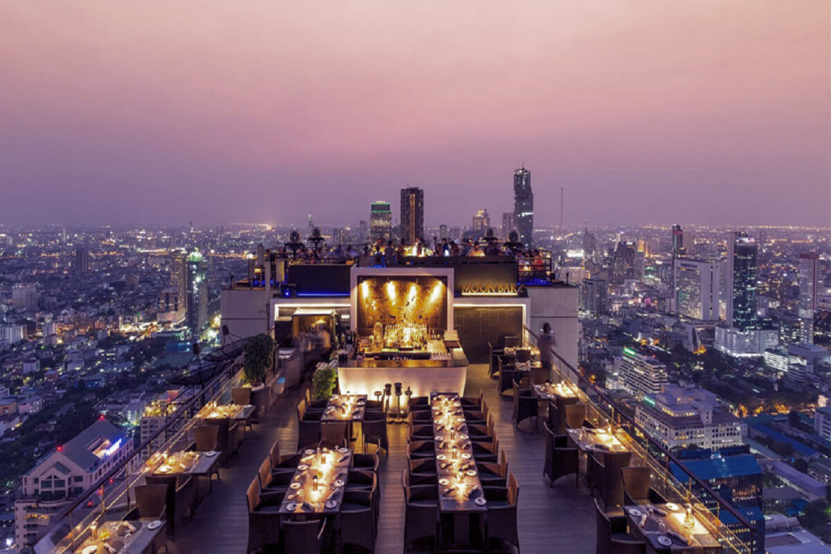 The restaurant Vertigo is located in Thailand
