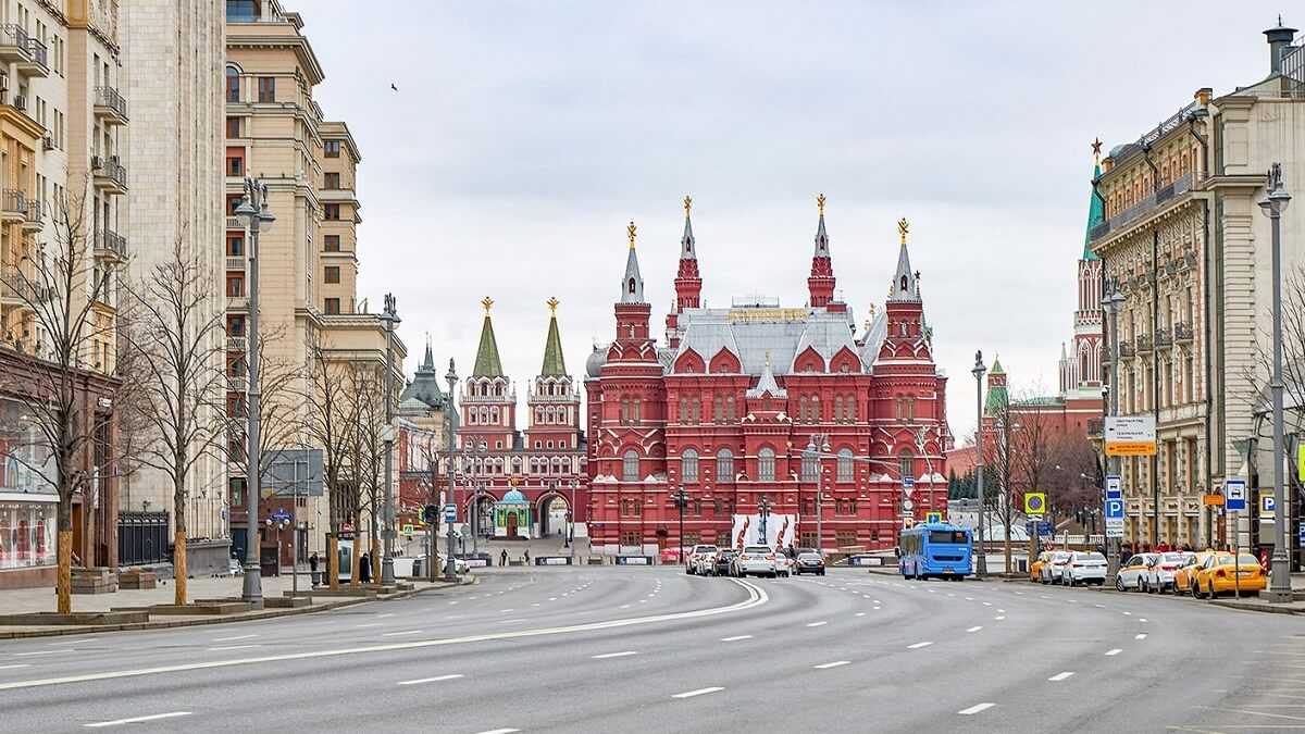 Tverskaya Street in Moscow - Moscow White Russian Fairy Tale