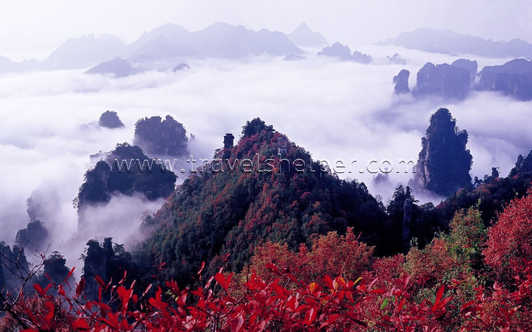 Zhangjii Dansi Geological Park in China - WONDERS OF NATURE IN ASIA, WHICH SEEM TO BE NOT FROM THIS WORLD
