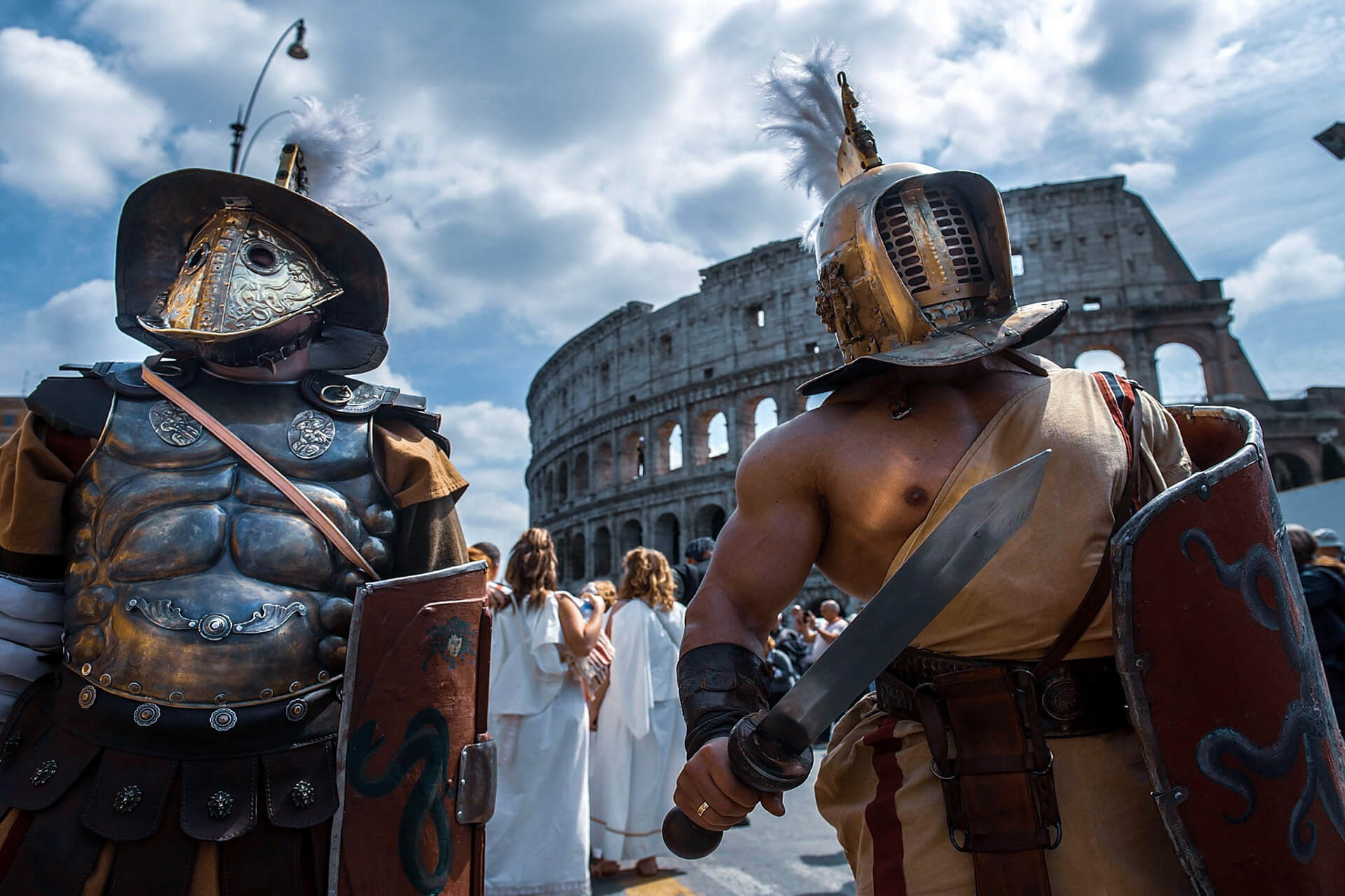 Training to become a gladiator in Rome